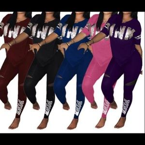 Women's PINK legging outfits